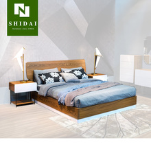 Wooden sex bed, double bed design furniture, latest double bed designs