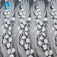 High Quality Handmade 3D Flower Embroidery Beaded Fabric Lace Wholesale