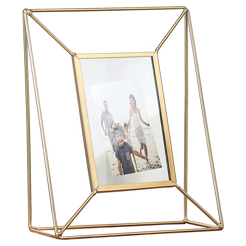 Table Top Decor <strong>Vintage</strong> Gold Foldable Metal Photo <strong>Frame</strong>