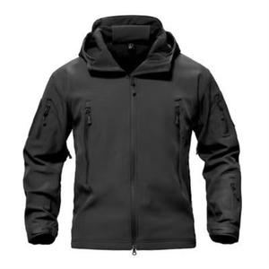Black Waterproof Soft Shell and Fleece Lining Jacket Coats for Men
