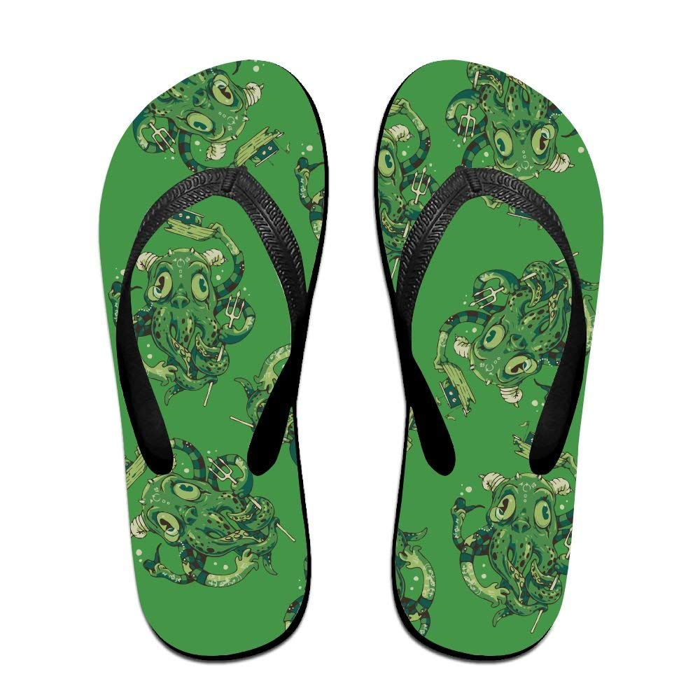 8fd4194d4f21 Get Quotations · Tailing Flip Flops Ugly Green Octopus Unisex Trendy Print  Slippers Beach Sandal