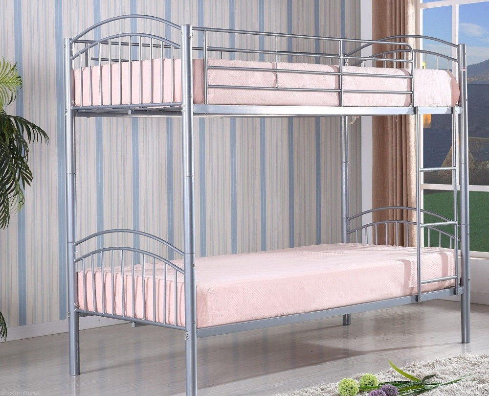 Steel double deck bed - Home Hotel Factory Staff Dorm Steel Double Decker Bed From China