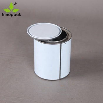 Small tin can paint container lubricant