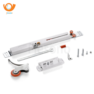 light weight wardrobe sliding door roller with soft close damper buffer