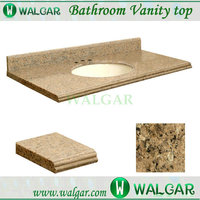 "Hot Sale top quality 43"" x 22""-inch Giallo Veneziano Granite Undermount Single Sink Bathroom Vanity Top with wholesale price"
