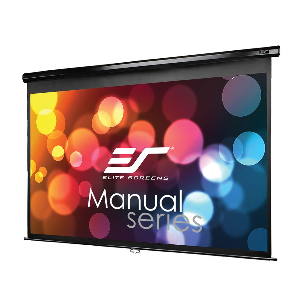 Elite Screens Manual Series, 106-INCH 16:9, Pull Down Manual Projector Screen with AUTO LOCK, Movie Home Theater 8K/4K Ultra HD 3D Ready, 2-YEAR WARRANTY, M106UWH