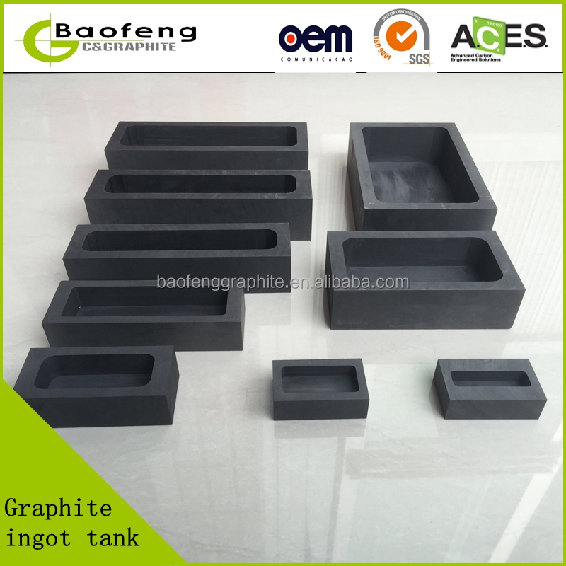 Graphite tank ,graphite ingot mold , graphite box for sliver gold ingot case