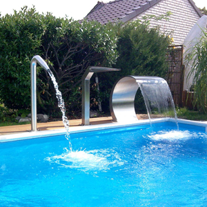 Swimming pool cascade outdoor garden waterfall fountain