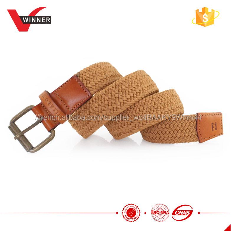 c971c011f7f0 Relief logo en relief ceinture tressée avec bracelet-Galon-ID de ...