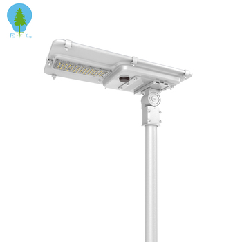 Pole mount high lumens motion sensor integrated solar power led street light