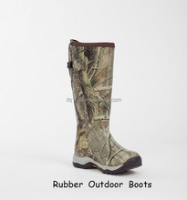 Fashion Rubber Boots Camo Outdoor Boots Waterproof Rubber Rain Boots For Men
