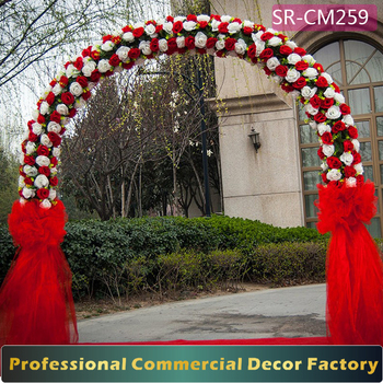 Custom foldable detachable giant wedding arch with green flower custom foldable detachable giant wedding arch with green flower decoration stock junglespirit Gallery