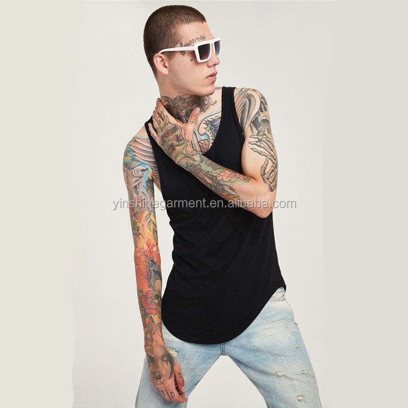 2019 Mens  round bottom tank top gym  custom tank top