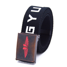 Alibaba China factory removable buckle custom print military web canvas belt