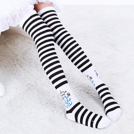 Женщины спорт носки хлопок дамы бедра высокая носки сексуальный дамы шланг
