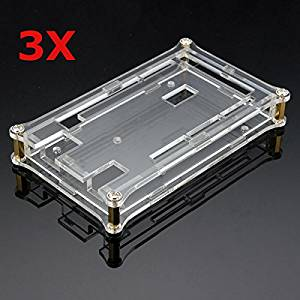 BephaMart 3Pcs Transparent Acrylic Shell Box For Arduino MEGA2560 R3 Module Board