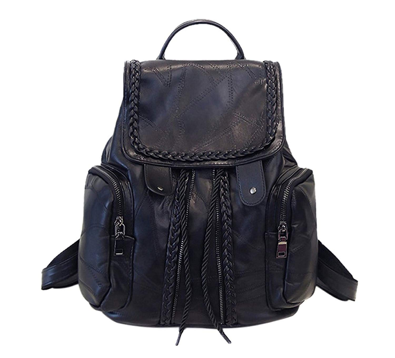 Women's Leather Backpack, PU Leather Backpack for Women, Soft & Fashion Leather Lovely Backpack Cute School Bag Shoulder Bag for Girls
