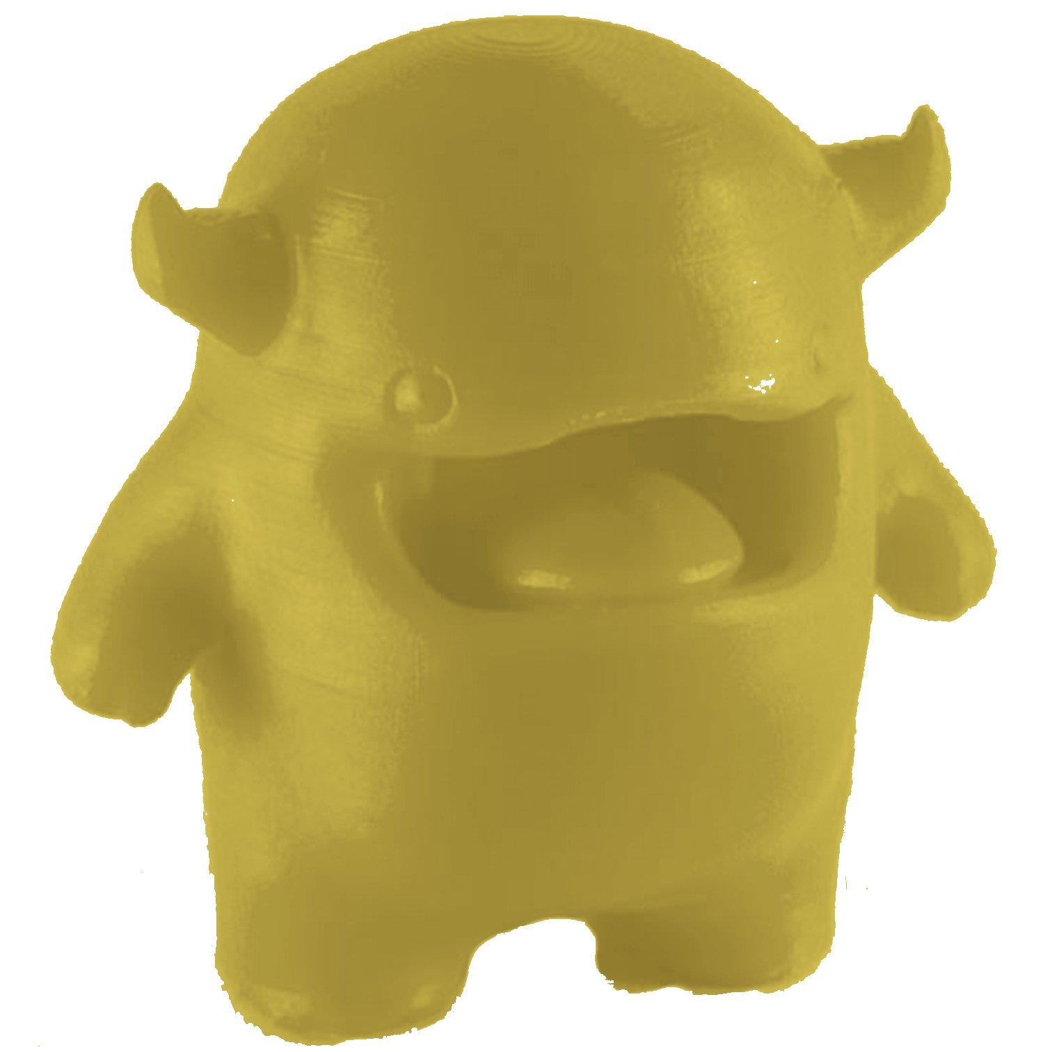 MakerJuice Yellow G+ UV 3D Plastic Printing Resin for SLA and DLP Printers (one 500 mL bottle).