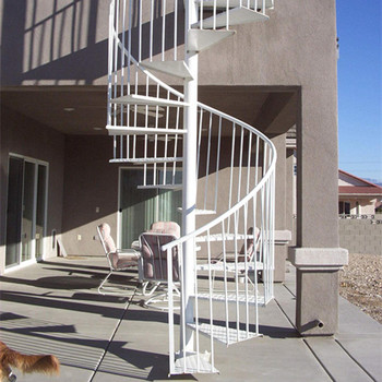 Attrayant Durable Metal Stair Railing For Residential Use Prefab Outdoor Steel Stairs