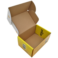 Custom colored cardboard carton packaging corrugated box