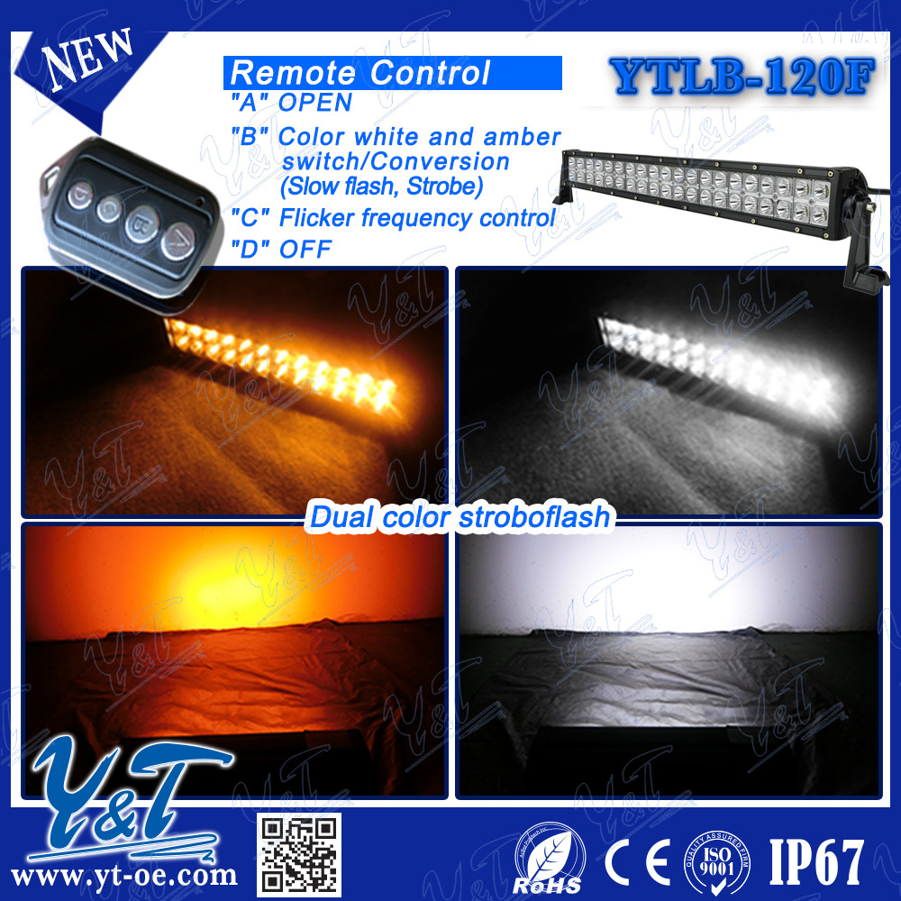 Emergency 120W COB waterproof led light bar,Full size led warning light bar, Police led car roof lightbar