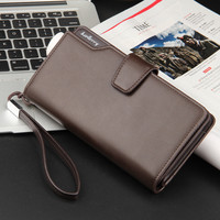 21 card baellerry Wallet Luxury Men Wallets Casual Male Clutch Brand Leather Wallet Men Purse Multi-function credit card bag