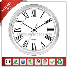 Custom Made Roman Number Quartz Aluminum Wall Clock