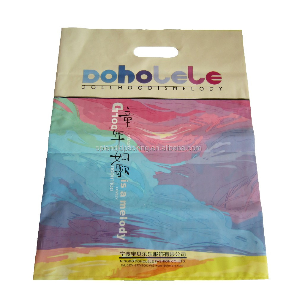 Fashionable Design Custom Logo Printing Plastic Packing Bag with Handle