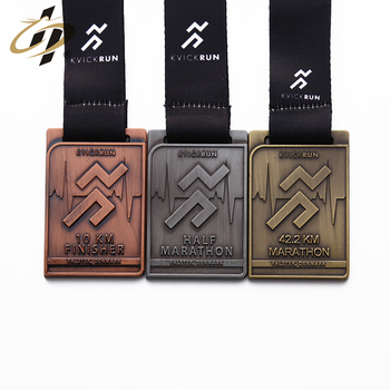 Cheap zinc alloy metal custom gold silver bronze award running marathon event medal