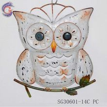 metal wall decorative owl shape hanging arts
