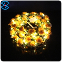 2017 promotion item attractive shinny colorful shinny led string lights flower headband Alibaba Chinese manufacturer
