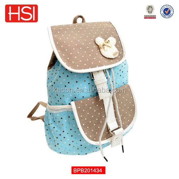 Wholesale Waterproof Custom Cute Canvas School Bag For High School ...