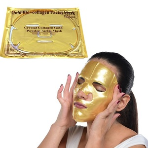Private Label Collagen Crystal Face 24k Gold Facial Mask Pure 24K Gold Sheet Mask For Face
