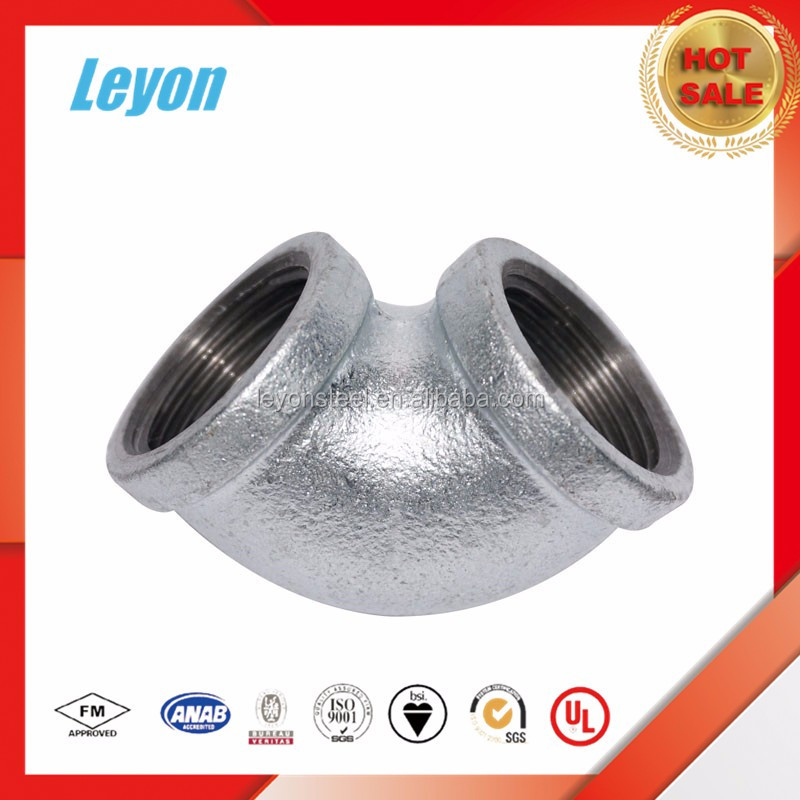 good quality of gi cast iron pipe fitting formul 90 degree elbow