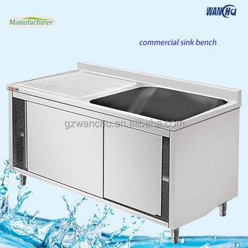 Stainless Steel Kitchen Sink Cabinet Ixon Restaurant Hand Wash Single Bowl