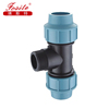 Customized design Factory price pp pe compression fittings 90 degree tee for irrigation pipe and water supply