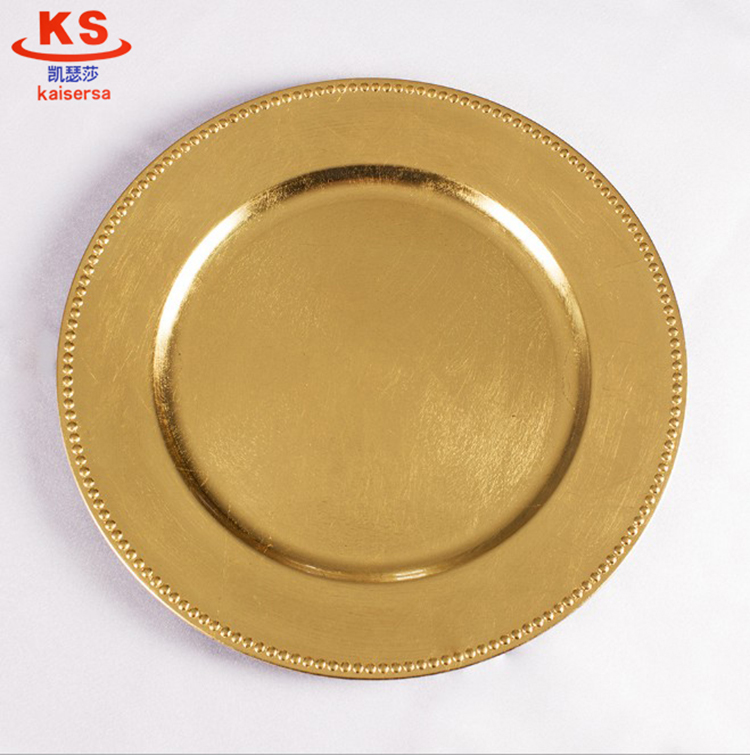factory wholesale cheap plastic charger plate for wedding party decoration