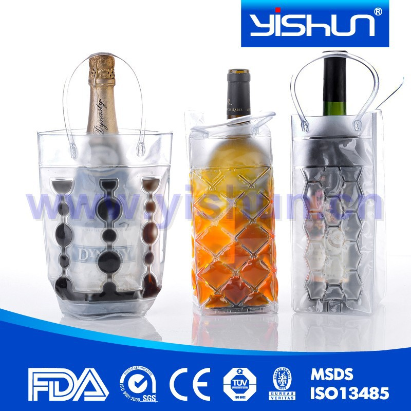 Wine Cooler Plastic Bag Gel Bottle Cooler
