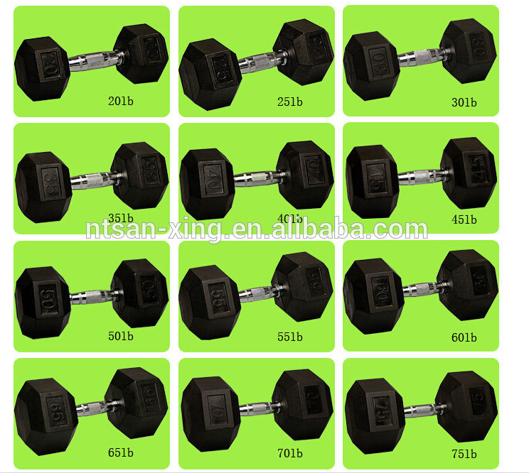 Adjustable plates rubber dumbbell