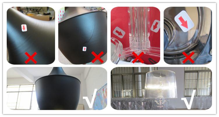 Led 대리석 기지 삼각형 독특한 가정용품 플로어 램프