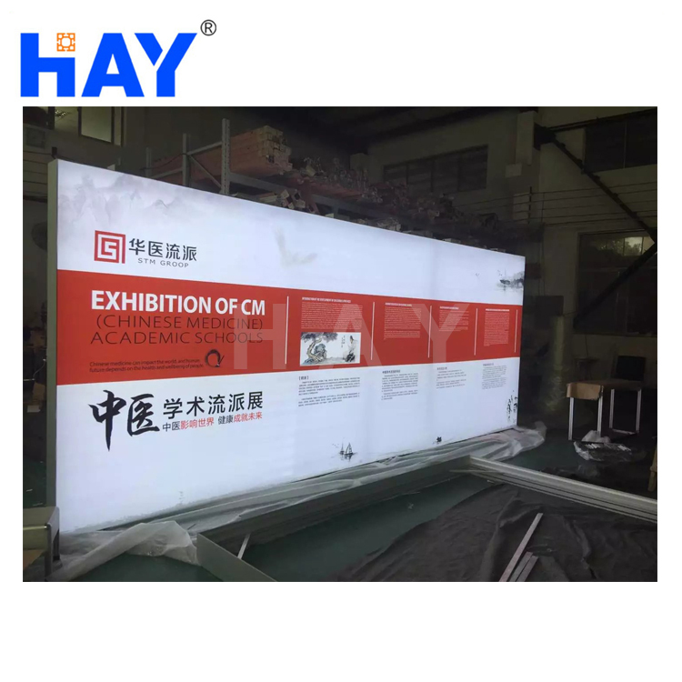 Modern design promotion light box stand with led for airport