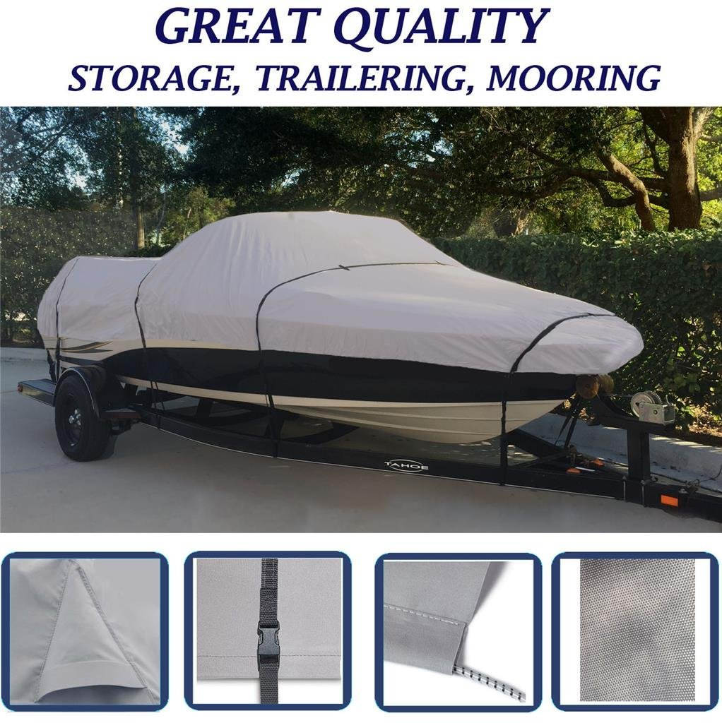 GREY, STORAGE, TRAVEL, MOORING BOAT COVER FOR MAXUM 1900 XR/1900 MA BOWRIDER O/B 1996 1997 1998