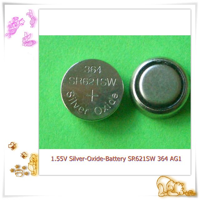 SR621 AG1 364 LR621 1.55V Silver Oxide Button Battery for watch