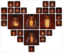 Hot sales A19/G95/ST64/T30 T45 Antieke Vintage Edison Carbon Filament <span class=keywords><strong>Gloeilamp</strong></span> 25 W 40 W 60 W 220 V voor home decor