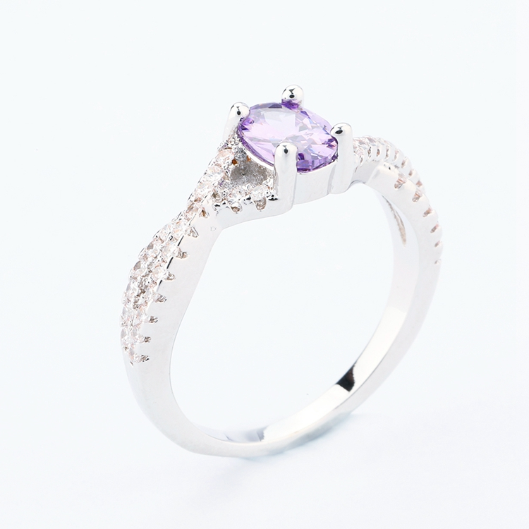 delicate amethyst purple elegant silver ring modern rings oval ringfine stone dainty cut fine wedding promise media