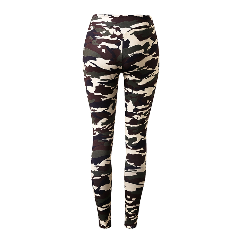 Women Yoga Clothes Quick Dry Long Pants Fitness Camo Workout Leggings