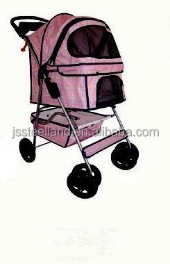 new arrival Bright peach 4 Wheel Pet Stroller for dogs durable