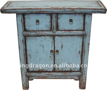 Bon Chinese Antique Gray Blue Colour Small Cabinet With Two Drawer Two Door  Cabinet 88*30*84cm   Buy Chinese Antique Two Door Two Drawer Cabinet  Product ...