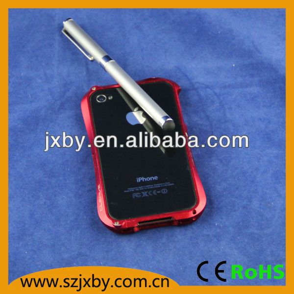capacitive stylus tip for smart phone, stainless steel with soft rubber tipped end