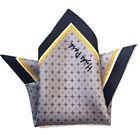 Custom Digital Printed 100% Silk Men Pocket Square Silk Handkerchiefs scarf